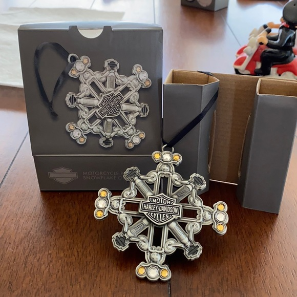 "Harley Ornament ""Motorcycle Parts""Snowflake #2 NEW"